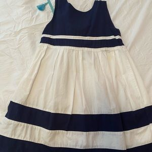 Cute navy striped dress for girls size 8.